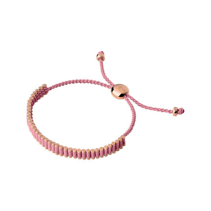 18kt Rose Gold & Pink Mini Friendship Bracelet, , hires
