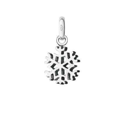 Sterling Silver Snowflake Charm, , hires