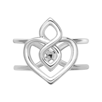 Infinite Love Sterling Silver Heart Ring, , hires