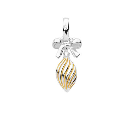 Sterling Silver & 18K Yellow Gold Vermeil Drop Bauble Charm, , hires