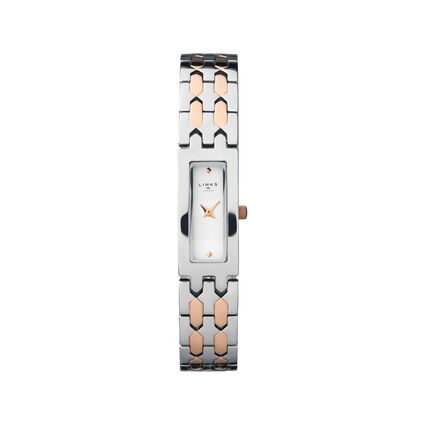 Selene Stainless Steel & Rose Gold Tone Watch, , hires