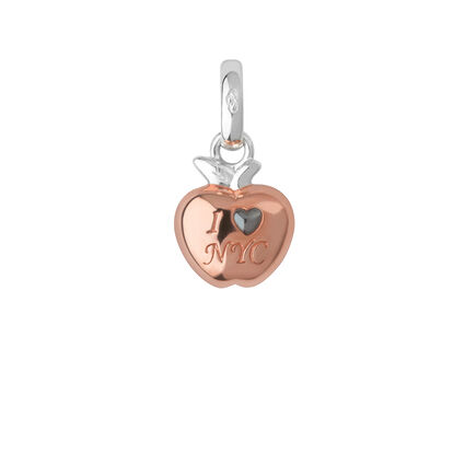 Sterling Silver & 18kt Rose Gold Vermeil 'I Love New York' Charm, , hires