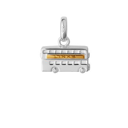 Sterling Silver & 18kt Yellow Gold Vermeil London Routemaster Charm, , hires