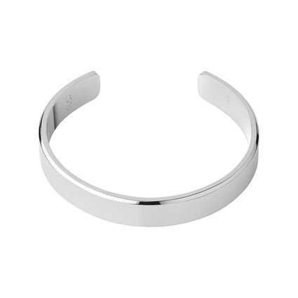 Essential Mens Sterling Silver Bangle, , hires