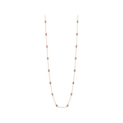 Essentials 18kt Rose Gold Vermeil Beaded Chain Necklace 80cm, , hires