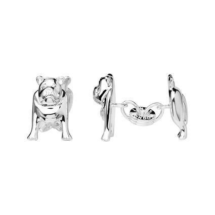 Sterling Silver Bulldog Cufflinks, , hires
