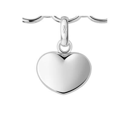 Sterling Silver Heart Charm Bracelet, , hires