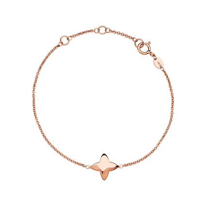 Splendour 18kt Rose Gold Vermeil Four-Point Star Bracelet, , hires