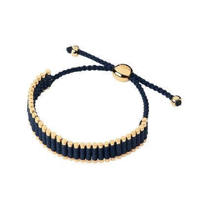 18kt Yellow Gold Vermeil & Navy Cord Friendship Bracelet, , hires