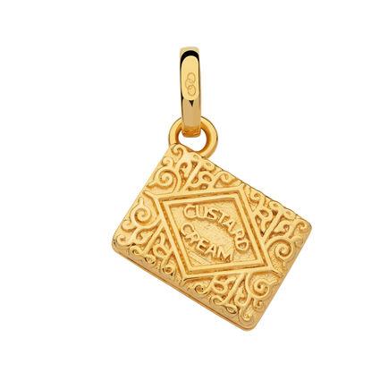 18kt Yellow Gold Vermeil Custard Cream Biscuit Charm, , hires