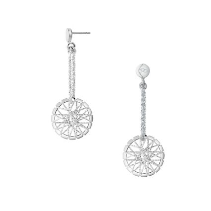 Dream Catcher Sterling Silver Drop Earrings, , hires