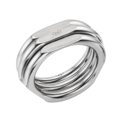 20/20 Mens XL Ruthenium Plated Ring, , hires