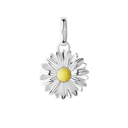 Sterling Silver Daisy Charm, , hires