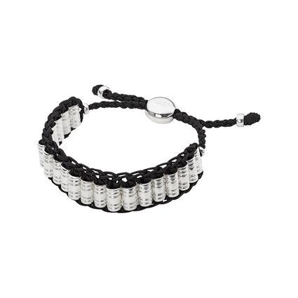 Venture Mens Woven Cord Black Bracelet, , hires