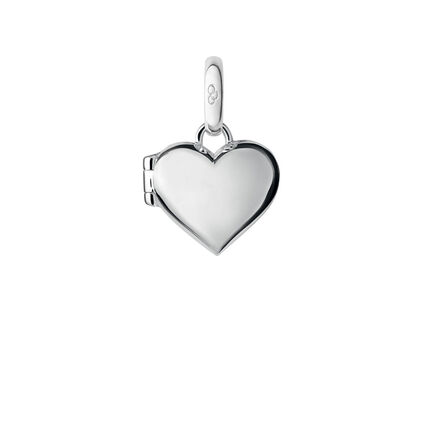 Sterling Silver Heart Locket Charm, , hires