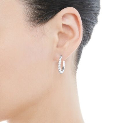 Effervescence Sterling Silver Small Hoop Earrings, , hires