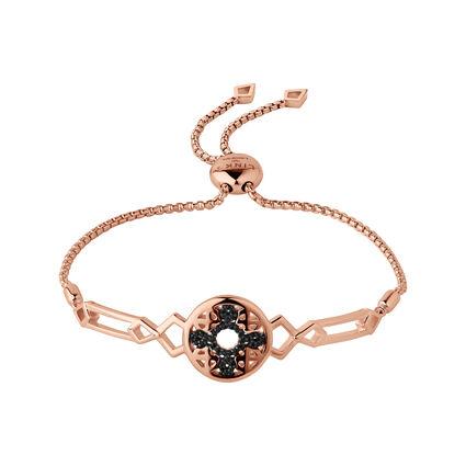 Timeless 18kt Rose Gold Vermeil & Black Sapphire Bracelet, , hires
