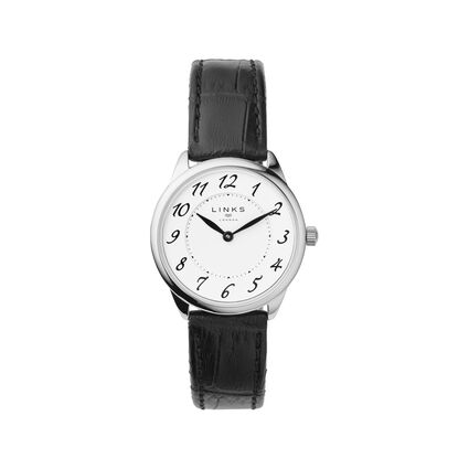 Narrative Stainless Steel & Black Leather Womens Watch, , hires