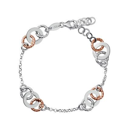 Aurora Bi-Metal Multi Link Bracelet, , hires