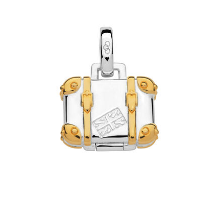 Sterling Silver & 18kt Yellow Gold Vermeil Suitcase Charm, , hires