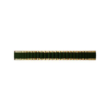 18kt Yellow Gold & Khaki Cord Mini Friendship Bracelet, , hires