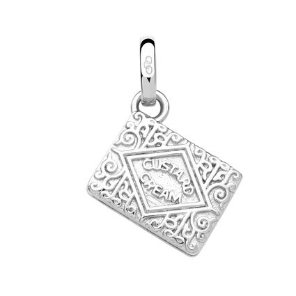 Sterling Silver Custard Cream Biscuit Charm, , hires