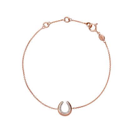 Ascot Diamond Essentials 18kt Rose Gold Vermeil Horseshoe Bracelet, , hires