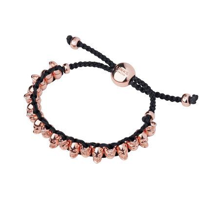 18kt Rose Gold Vermeil Skull Friendship Bracelet, , hires