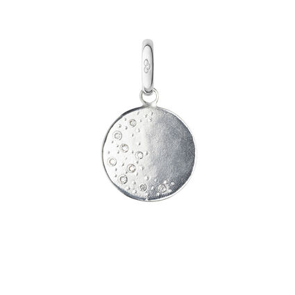 Watch Over Me Sterling Silver & Diamond Moon Charm, , hires