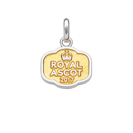 Royal Ascot Sterling Silver & 18kt Yellow Gold Vermeil Enclosure Badge Charm, , hires