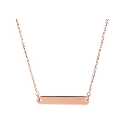 Narrative 18kt Rose Gold Vermeil Short Bar Necklace, , hires