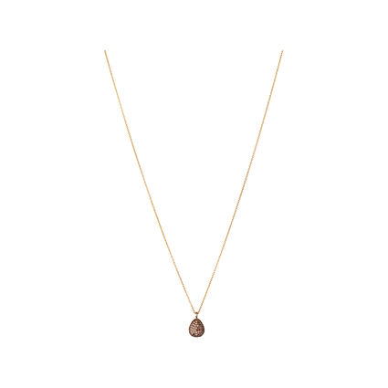 Hope 18kt Yellow Gold & Cognac Diamond Necklace, , hires