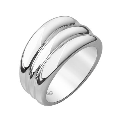 Hope Sterling Silver Triple Stack Ring, , hires