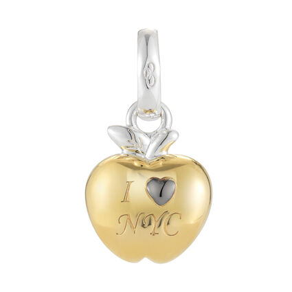 18kt Yellow Gold Vermeil I Love New York Charm, , hires