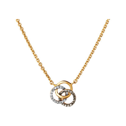 Treasured 18kt Yellow Gold Vermeil, Champagne & White Diamond Necklace, , hires