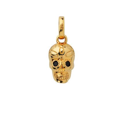 18kt Yellow Gold Vermeil & Black Sapphire Skull Charm, , hires