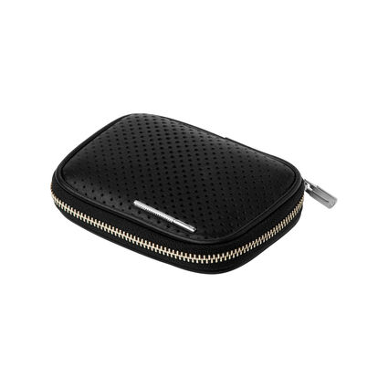 Black Leather Travelling Box for Cufflinks, , hires
