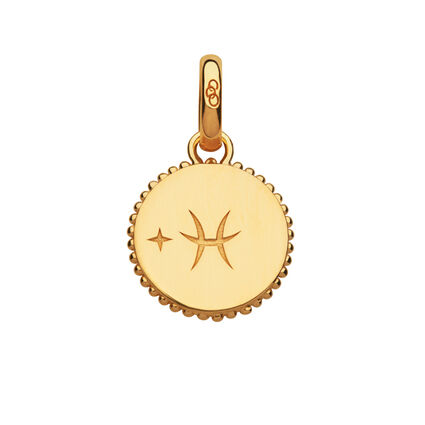 18kt Yellow Gold Vermeil Pisces Zodiac Charm, , hires