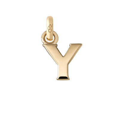 18kt Yellow Gold Y Charm, , hires