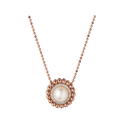 Effervescence 18kt Rose Gold, Diamond & Pearl Necklace, , hires