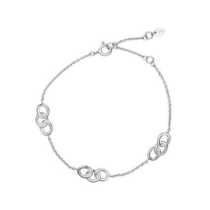 Essentials Sterling Silver 3 Station Bracelet, , hires