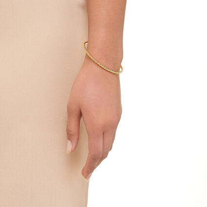 Effervescence 18kt Yellow Gold Vermeil Bangle, , hires