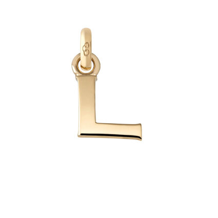 18kt Yellow Gold L Charm, , hires