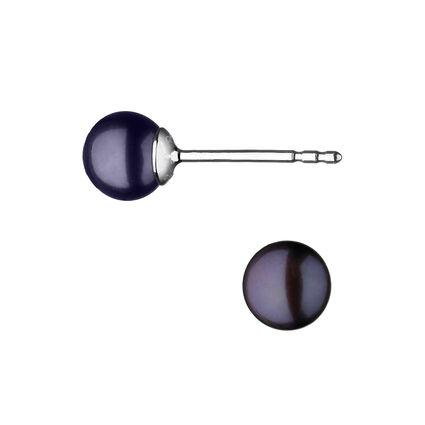 Effervescence Sterling Silver & Grey Pearl Stud Earrings, , hires