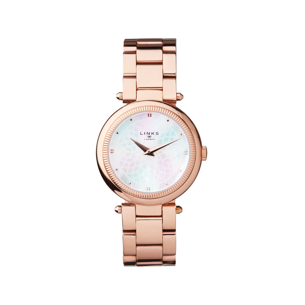 Timeless Rose Gold Tone Bracelet Watch, , hires