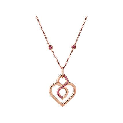 18K Rose Gold & Rhodolite Garnet Infinite Love Necklace, , hires