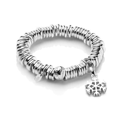 Sweetie Sterling Silver Charm Bracelet and Snowflake Charm, , hires