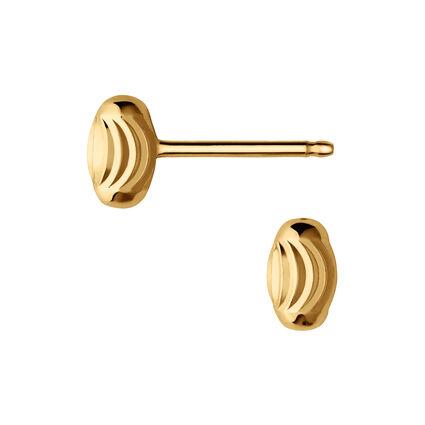 Essentials 18kt Yellow Gold Vermeil Beaded Stud Earrings, , hires