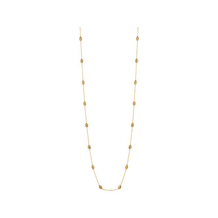 Essentials 18kt Yellow Gold Vermeil Beaded Chain Necklace 80cm, , hires