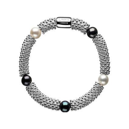 Effervescence Star Sterling Silver Black Pearl Bracelet, , hires